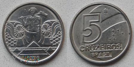 Brazylia, 5 cruzeiros 1990