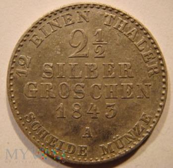 Duże zdjęcie 2 ½ SILBER GROSCHEN 1843 A Fryderyk Wilhelm IV