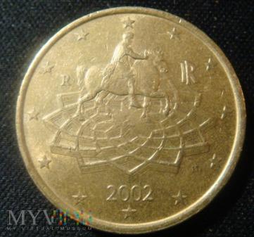 Włochy 50 centów 2002