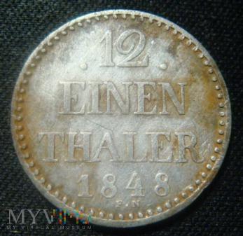 12 EINEN THALER 1848 Mecklenburg-Schwerin