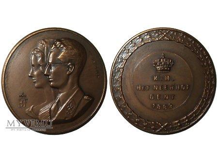 Duże zdjęcie Baudouin & Fabiola Belgia medal brązowy 1989