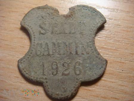 Psi numerek, STADT CAMMIN 1926