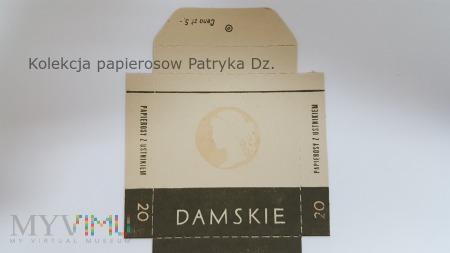 Papierosy DAMSKIE 20 szt. cena 5 zł - etykieta