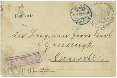 Kartka pocztowa- Mikołów-Orzesze- 1910