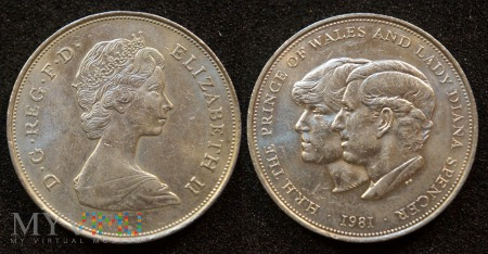 Wielka Brytania, 25 New Pence 1981