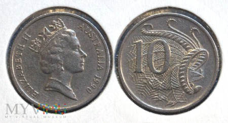 Australia, 10 centów 1990