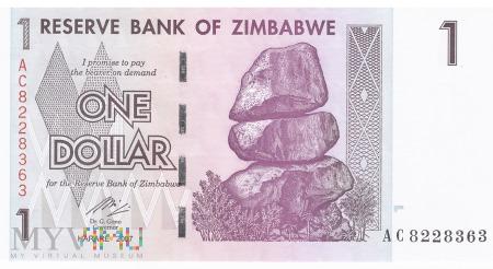 Zimbabwe - 1 dolar (2007)