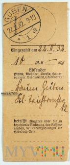 Dowód wpłaty, przelewu Guben 1932