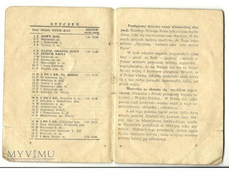 Kalendarzyk CZPW Wojska Polskiego.1947.