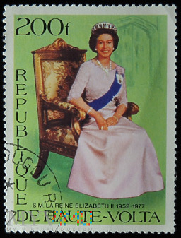 Górna Wolta 200f Elżbieta II