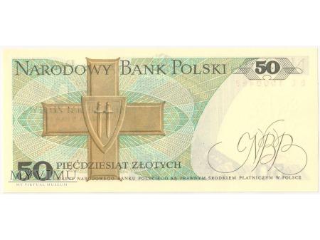 50 złotych 1975 rok seria BL
