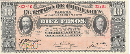Meksyk (Chihuahua) - 10 pesos (1915)