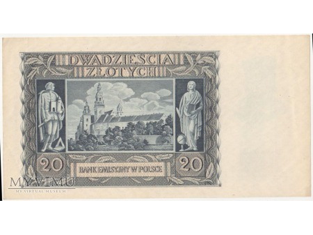 20 złotych 1 marca 1940 rok seria N