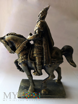Figurka pomnika konnego Skanderbega
