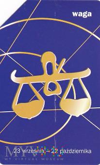 Karta telefoniczna - znak zodiaku waga