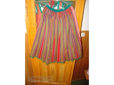 grinśtrimikjerrök- spódnica z zielonymi paskami