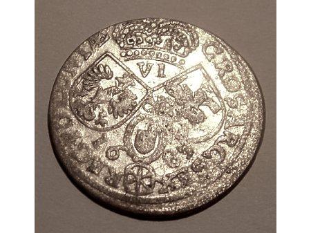 Szóstak m. Kraków 1685 rok- bardzo rzadka
