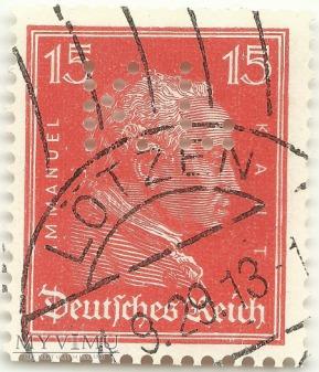 Immanuel Kant DEUTSCHES REICH 15 Pfennig