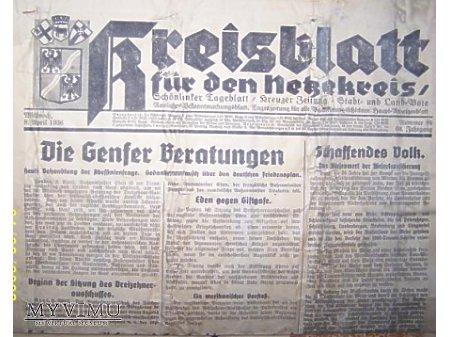 Gazeta z1936 r.
