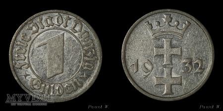 Wolne Miasto Gdańsk - 1932 1 Gulden