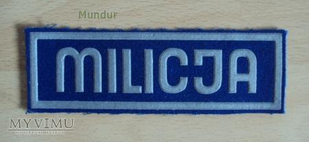 Oznaka organizacyjna MILICJA