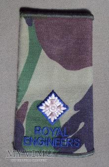 Oznaka stopnia: podporucznik Royal Engineers