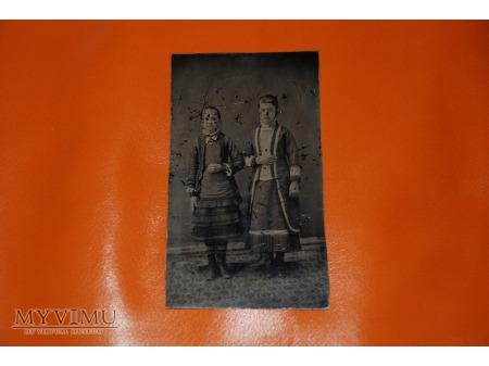 """Duże zdjęcie Ferrotyp - """"Siostry"""" - lata 60 - 90 XIX wieku"""