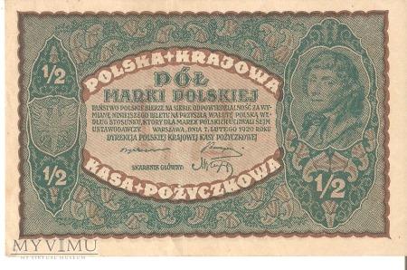 1/2 Marki Polskiej 1920r.