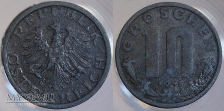 Austria, 10 groschen 1948