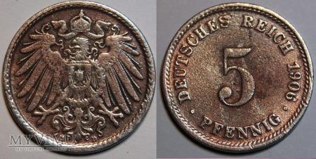 Niemcy, 1906, 5 Pfennig