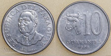 Paragwaj, 10 GUARANIES 1976