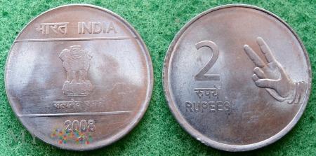 Indie, 2 Rupie 2008