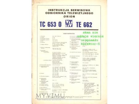 Instrukcja serwisowa telewizora ORION