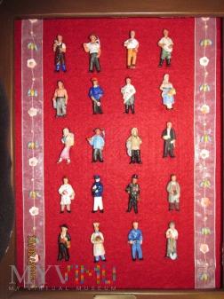 Porcelanowe figurki róznych zawodów -WHW