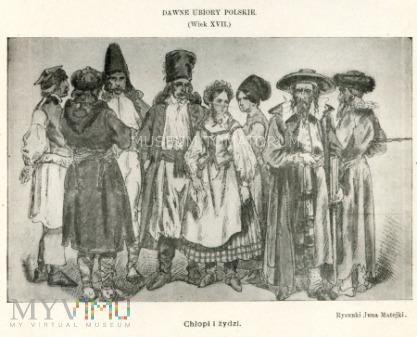 Matejko - Ubiory polskie z XVII w. -Chłopi i Żydzi