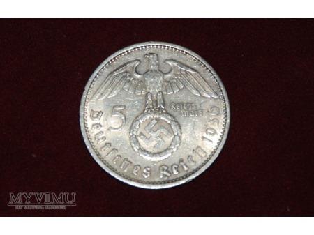 5 Reisch Mark - 1936