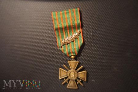 Francuski Krzyż Wojenny 1914 - 1917 z Palmą