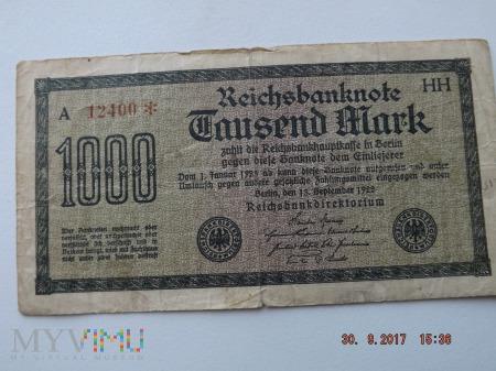 Tausend Mark - 1000 Mark 1922r.