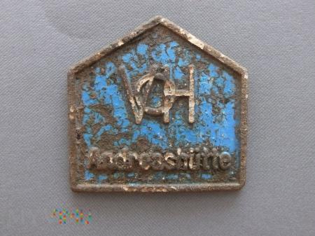 Znaczek Andreashutte Zawadzkie (niebieski)