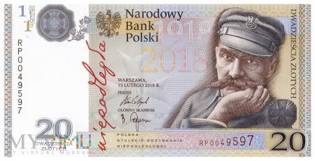 Polska - 20 złotych (2018)