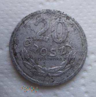 1967 rok - 20 groszy - aluminium - PRL