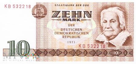 Niemcy (NRD) - 10 marek (1971)