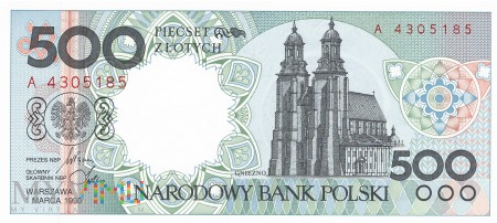 Polska - 500 złotych (1990)