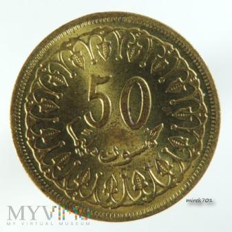 Tunezja 50 millimów 1960