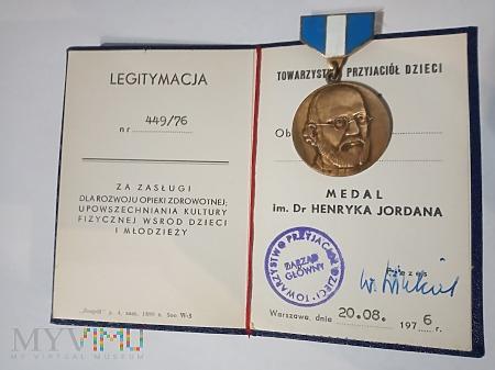 Medal im.dr.Henryka Jordana