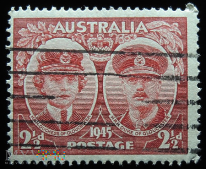 Australia 2 1/2d Jerzy VI i Elżbieta II