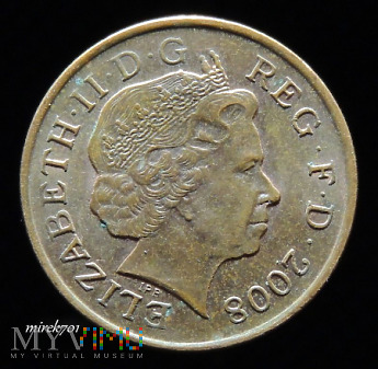 1 Pens 2008 Elizabeth II One Penny