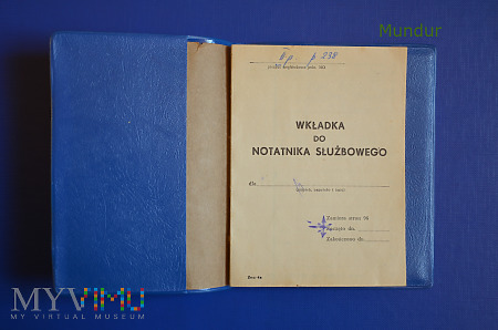 Wkładka do notatnika służbowego MO