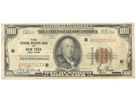 100 USD NATIONAL CURRENCY 1929
