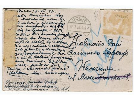Edmund Cieczkiewicz POŻAR LASU pocztówka